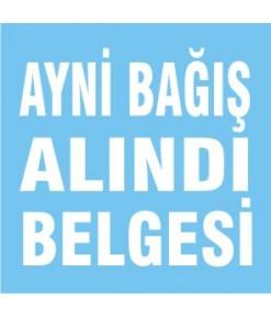 AYNİ BAĞIŞ ALINDI BELGESİ