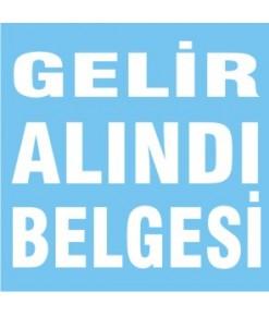 GELİR ALINDI BELGESİ